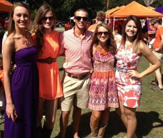 Dressed for the homecoming game in Clemson