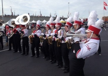 The U of L brass section before the game