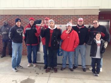 Cardinals fans at Papa Johns