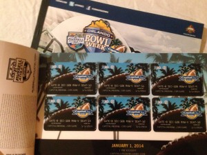 What's in your wallet?  A Capital One Bowl ticket