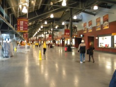 Plenty of room on the concourse