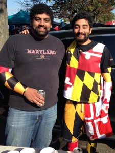 Brothers display the colors of the Maryland state flag.
