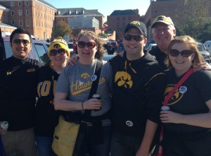 An Iowa Hawkeyes family reunion