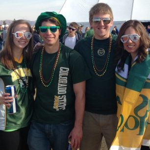 Colorado State fans at the Las Vegas Bowl