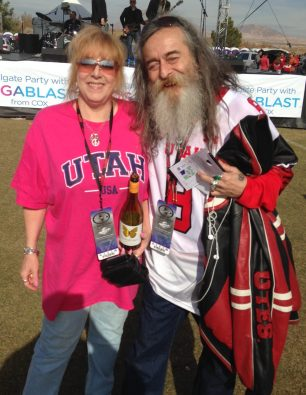 Utah fans at the Las Vegas Bowl