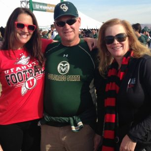 Colorado State and Utah Fans at the 2014 Las Vegas Bowl