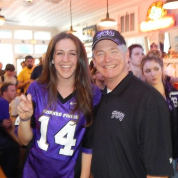 TCU father and daughter
