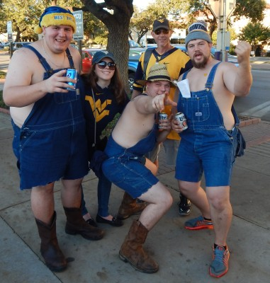 Country Roads led this group of West Virginia fans to Ft. Worth