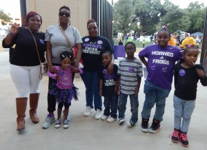 Members of the Boykin family before the game