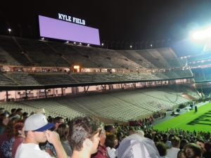 10,000 at Midnight Yell on a rainy Friday night