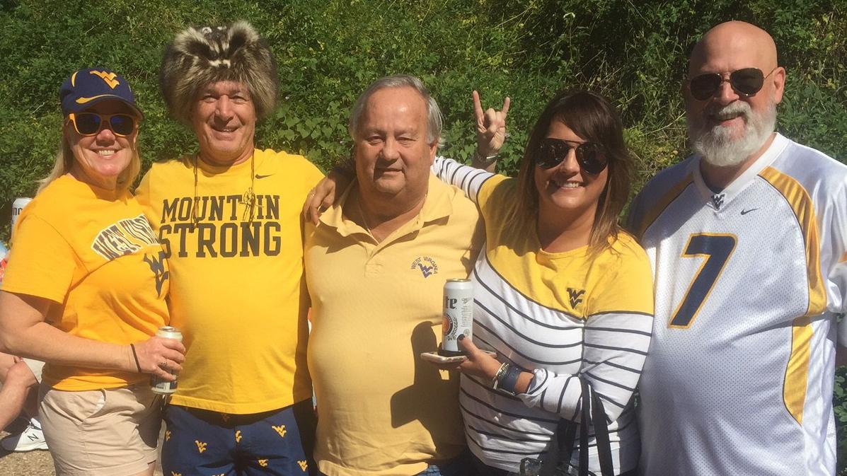 West Virginia fans made thetrip